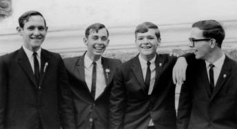 Ken, Peter, Dan, Ted at graduation 1967